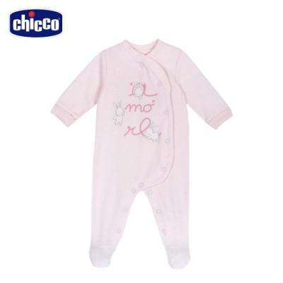 chicco-粉彩-小兔前側開長袖兔裝
