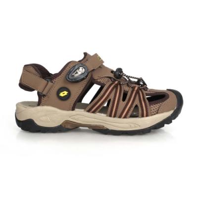 LOTTO 男 排水護趾涼鞋 深棕咖啡