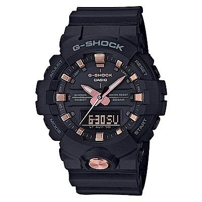 G-SHOCK  閃耀光芒休閒運動雙顯錶-玫瑰金 (GA-810B-1A4)/48.6mm