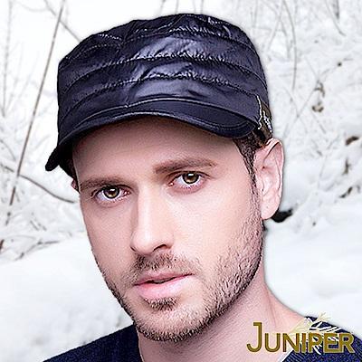 JUNIPER 輕薄防潑水保暖可折疊帽眉羊毛護耳軍人平頂帽