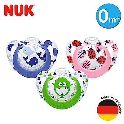 德國NUK-Genius矽膠安撫奶嘴-初生型0m+2入(顏色隨機出貨)