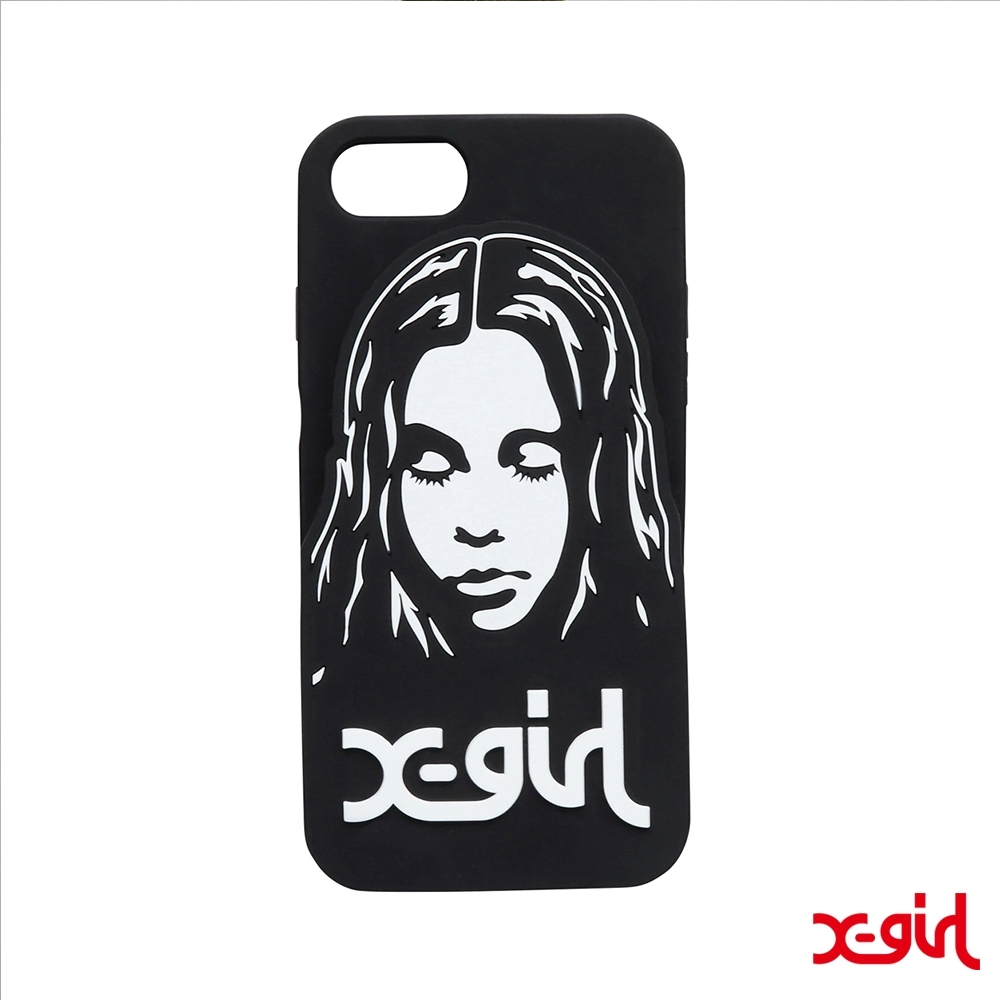 X-girl FACE SILICON MOBILE CASE手機殼-黑 product image 1