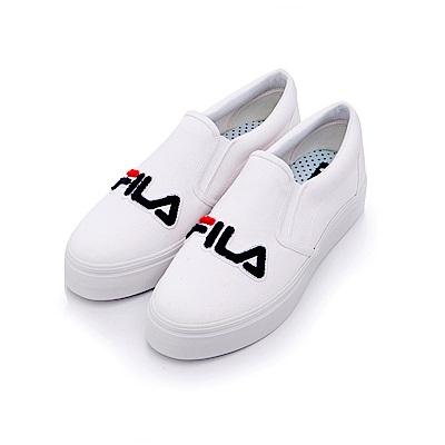 FILA 女款帆布休閒鞋-白 5-C602S-110