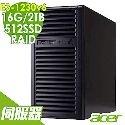 Acer  Altos T110 F4 E3-1230v6/16G/2T+512/RAID