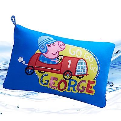 Saint Rose  卡通正版授權 天絲可水洗枕一入-佩佩豬GOGO喬治藍