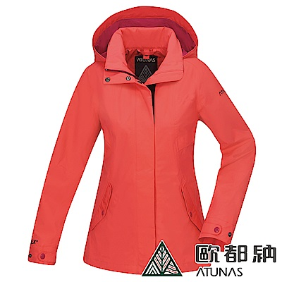 【ATUNAS 歐都納】女款GORE-TEX防水防風單件式外套A-G1822W粉柑