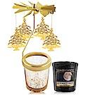 O-Pretty歐沛媞 歐式旋轉燭罩蠟燭台(金)任選限量加YANKEE香氛蠟燭