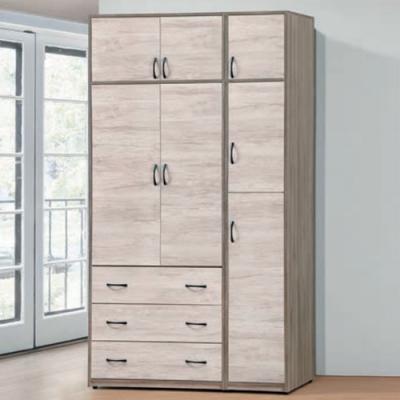 Bernice-艾妮雅4.3×7尺衣櫥+被櫥-130X57x242cm