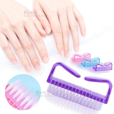 美甲清潔專用刷 指甲 羊角刷牛角刷-贈磨砂指甲搓刀kiret