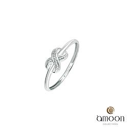 amoon 浪漫艾菲爾系列 恆久 K金鑽石戒指