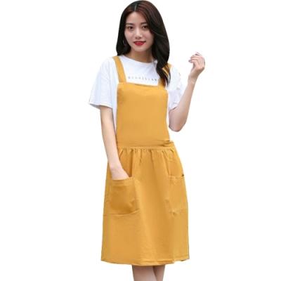 COMET 日系水洗棉簡約百褶文藝圍裙(APN-03)