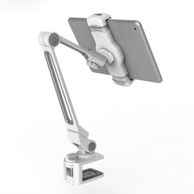 LEDETECH 鋁合金懶人夾式手機平板架(LD-203BWH)白色