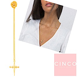 葡萄牙精品 CINCO BELLA  925純銀鑲24K金 十字架項鍊 簡約款
