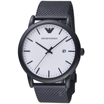 ARMANI 亞曼尼  Luigi系列米蘭錶帶腕錶(AR11046)黑色/43mm