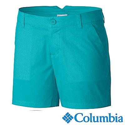 Columbia 哥倫比亞 女款-防曬30短褲-湖水藍 UAL47201AQ