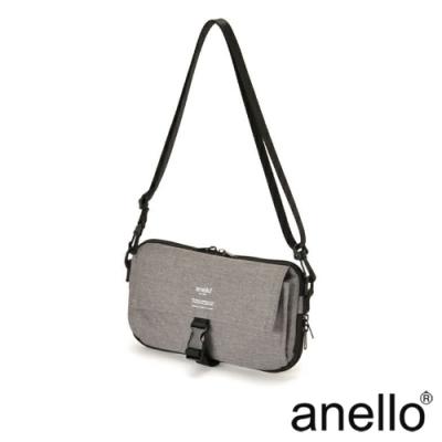 anello THE DAY 多收納輕巧斜背包 灰色