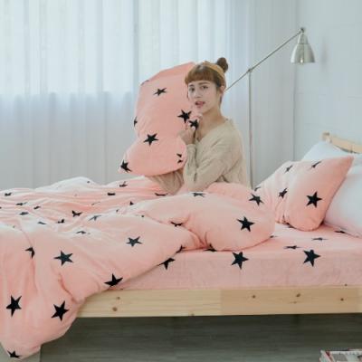BUHO 極柔暖法蘭絨雙人床包三件組(喜幻夢奇地)