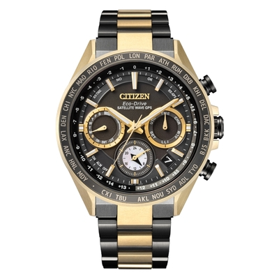 CITIZEN Eco-Drive 星際效應衛星對時腕錶-CC4016-75E-44.3mm