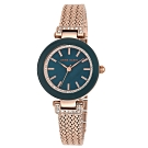 Anne Klein 奢華復古氣質靜謐藍腕錶-墨藍x30mm
