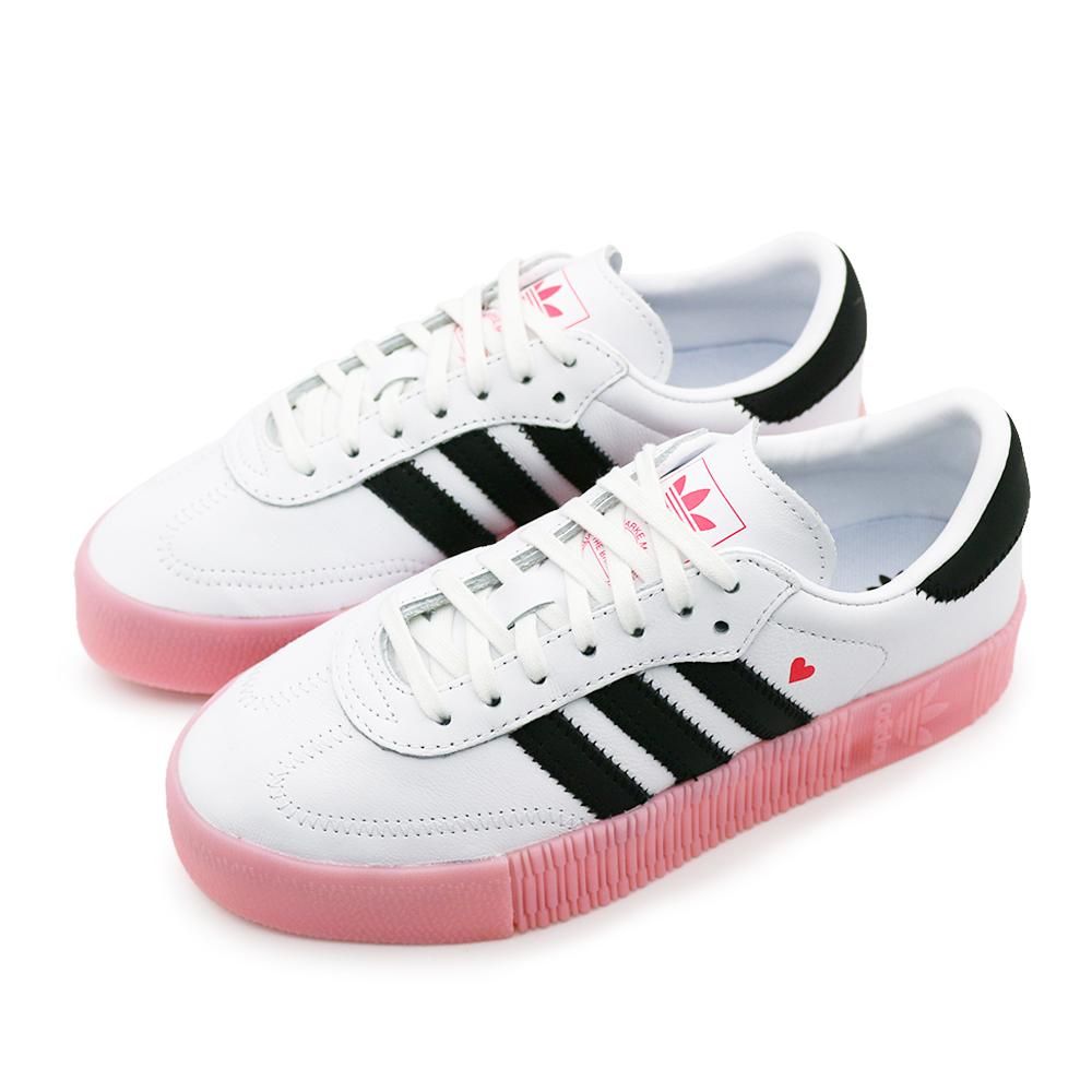 ADIDAS SAMBAROSE 女 休閒鞋 白黑粉紅情人版-EF4965