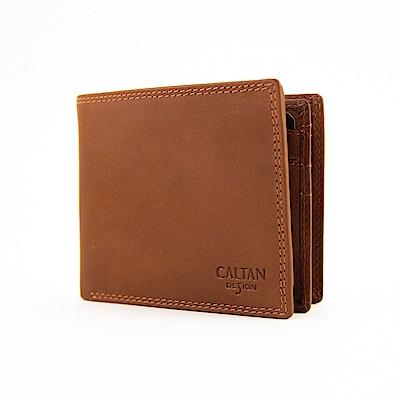 CALTAN-多翻層短夾 男夾 零錢袋短夾 多卡容量-2733cd咖