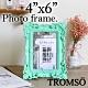 TROMSO皇家巴洛克4x6相框-雕花藍綠 product thumbnail 1