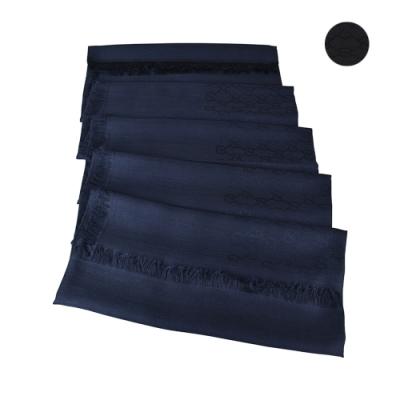 GUCCI雙G LOGO緹花羊毛/桑蠶絲圍巾(兩色)
