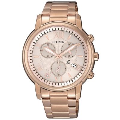 CITIZEN星辰 xC光動能限定款羅馬花園時尚計時女錶(FB1432-63W)-38mm