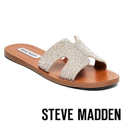 STEVE MADDEN-HOLLYWOOD H時尚水鑽拖鞋-金銅