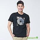 bossini男裝-印花短袖T恤03黑