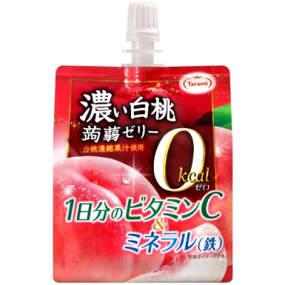 Tarami 零卡果凍飲便利包-白桃(150g)