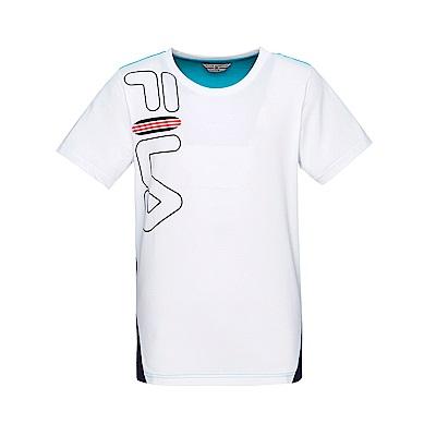 FILA 男款圓領短袖T恤-白色 1TET-1700-WT