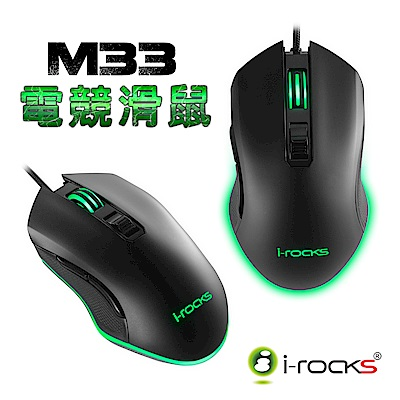 i-Rocks M33W RGB背光遊戲滑鼠