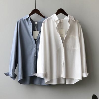 【KISSDIAMOND】復古港味休閒長袖襯衫(簡約/百搭/輕熟女/KDT-5699)