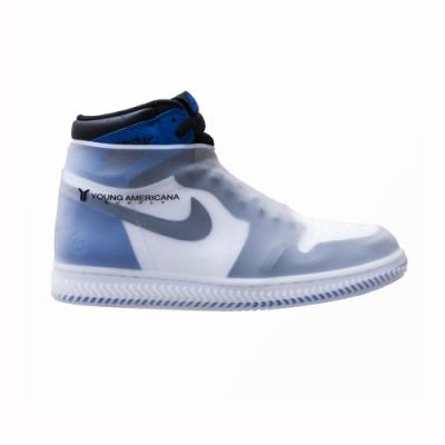 Y.A.S 美鞋神器 矽膠防水雨鞋套-白