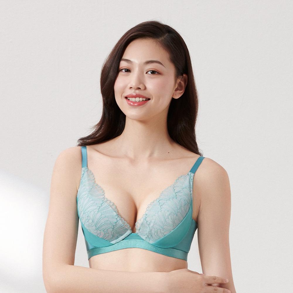 黛安芬-璀璨水感動系列水漾V型 B-C罩杯內衣 土耳其藍