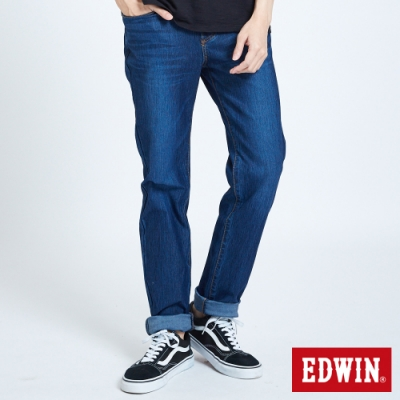 EDWIN JERSEYS 迦績 大尺碼 車織帶AB牛仔褲-男-酵洗藍
