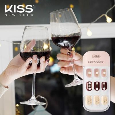 KISS New York-Press&Go頂級光療指甲貼片(搖晃的紅酒杯 KPNA35KA)