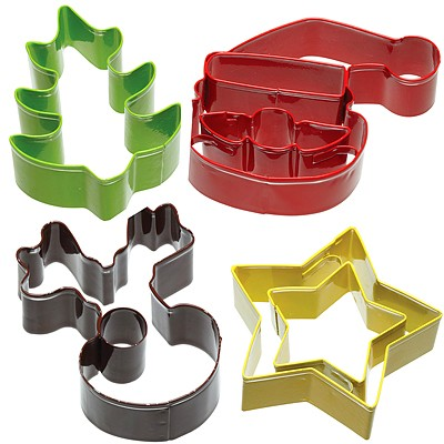 《KitchenCraft》掛式餅乾模4件(聖誕節)