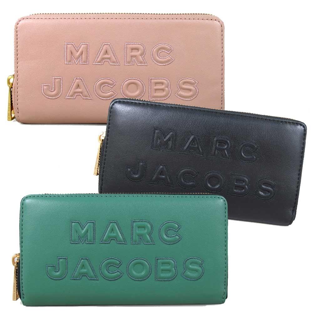 MARC JACOBS 新款浮雕Logo皮革長夾