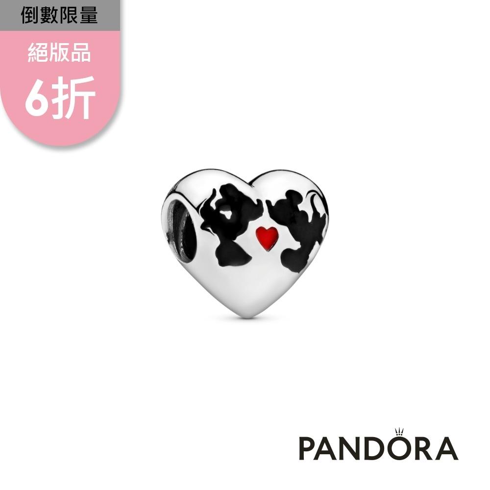 【Pandora官方直營】迪士尼米奇與米妮輕吻串飾