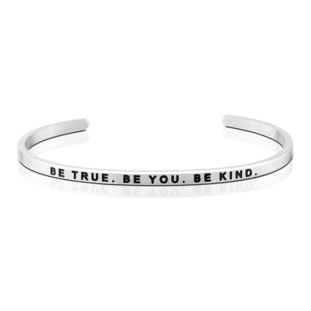 MANTRABAND Be True. Be You. Be Kind.美國悄悄話箴言銀色
