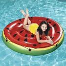 Bestway 43140西瓜造型水上氣墊座圈漂浮床附修補片.漂浮坐墊圈充氣浮圈救生圈