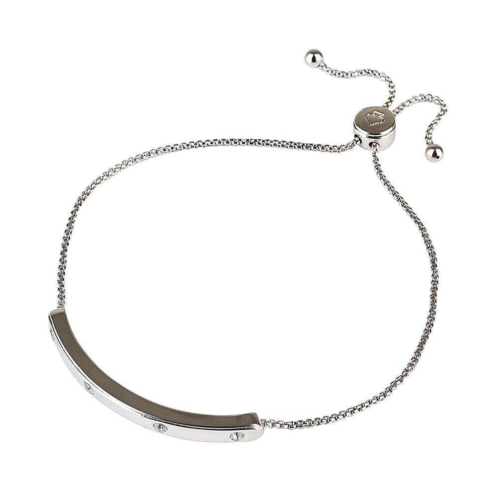 kate spade經典簡約設計鑽鑲飾手鍊(銀)