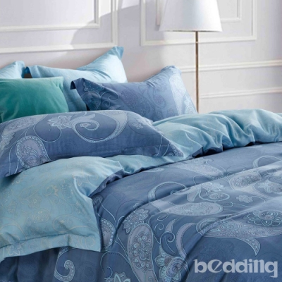 BEDDING-100%天絲萊賽爾-加大薄床包兩用被套四件組-冰島風情