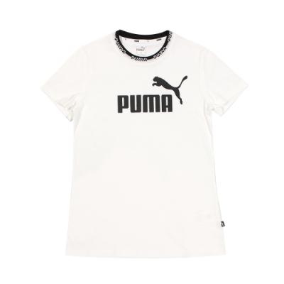 PUMA女基本系列AMPLIFIED短袖T恤 圓領T(短) -58590202
