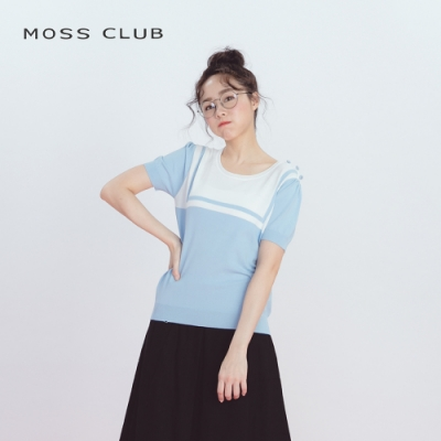【MOSS CLUB】水手服配色-針織衫(三色)