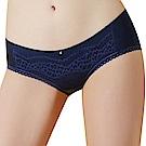 思薇爾 啵時尚系列M-XL蕾絲低腰平口內褲(海藍色)