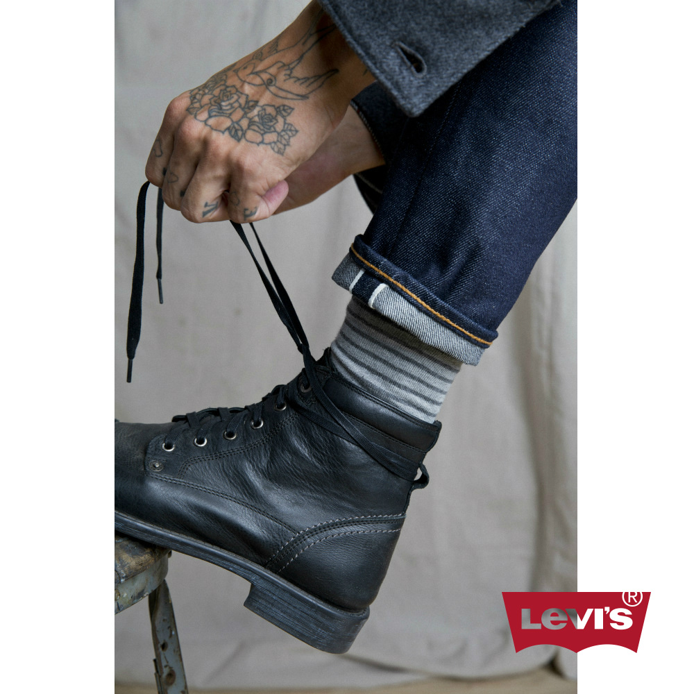 Levis 男款 上寬下窄 501 Taper 排扣牛仔長褲 赤耳 彈性布料