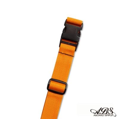 ABS愛貝斯 台灣製造旅行箱束帶單入 捆綁帶 可調式行李打包帶(橘色)66-058D6